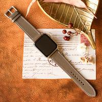 Apple Watch レザーベルト(44MM/40MM) ヴォー・エプソン/エトゥープxヴォー・バレニア/ゴールド