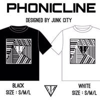 PHONICLINE×JUNK CITYコラボ T-shirt ※送料着払い
