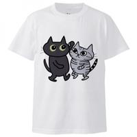 Tennis/ Dance/ Cafe T shirt (白ベース)