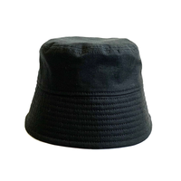"BUCKET SLOPE HAT ""RIP STOP BLACK"""