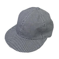 "【IN STOCK】Size M ""LOW STRAP CAP"" GINGHAM CHECK NAVY """