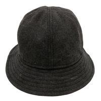 6P HAT -VINTAGE CANVAS- BLACK