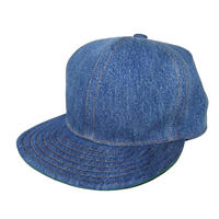 SNAP BACK CAP ONE OFF USED DENIM ツバ裏グリーン