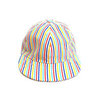"LOW STRAP CAP "" MULTI STRIPE"""