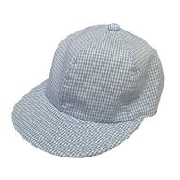 "LOW STRAP CAP ""GINGHAM LIGHT BLUE """