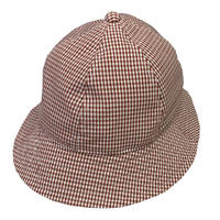 "6P HAT   ""GINGHAM CHECK BROWN"""