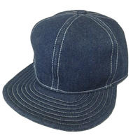 SNAP BACK CAP INDIGO DENIM