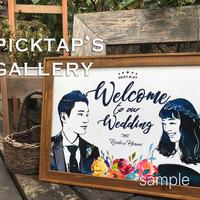 ■picktap's gallery■インパクトブーケ A2サイズ<額無し>ウェルカムボード