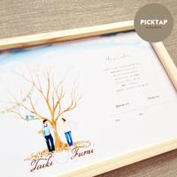 ジオラマウェディングツリー◆台紙◆A3/B4サイズ 結婚証明書