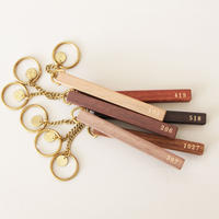 WOOD HOTEL KEY-HOLDER FREE NO.  片面箔押し