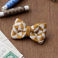 米山知歩さんのこぎん専用布でつくる リボンのブローチキット [sunflower]