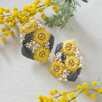 K.omono kakera earrings yellow PHC-085-2