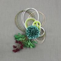 水引花飾り グリーン PHC-088-2