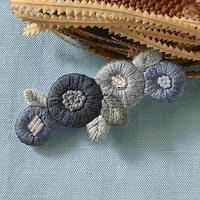 k.omono floret hair accessory  ヘアクリップ  - gray - PHC-033-4
