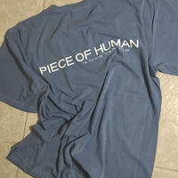 """piece of human""  LOGO wash ""T"""