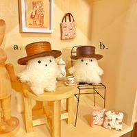 ふわふわぬいぐるみ(S)スタンダードタイプ〈たましいちゃん/おばけちゃん〉帽子付きセット