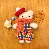 ふわふわぬいぐるみM-ストロベリーミルクほっぺちゃん-冬のおめかしセット (🎄オーダー商品)