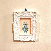 """ミニミニ原画""""DreamyFriendsお星様と青色クマちゃん""""(額付き)"""