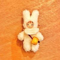 ふわふわぬいぐるみ(S)ハンドジョイントタイプ〈食いしん坊うさおさん〉はちみつトーストポシェット/スタイ(ピンク)/セット