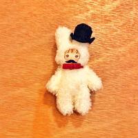 ふわふわぬいぐるみ(S)ハンドジョイントタイプ〈ヒゲうさおさん〉ヒゲ/帽子/蝶ネクタイ/セット