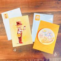 ポストカード/ぼくとおばけちゃん/マシュマロしゅごれいちゃん/おばけフェア作品