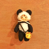 ふわふわぬいぐるみ(S)ハンドジョイントタイプ〈たそがれパンダさん〉ポシェットセット