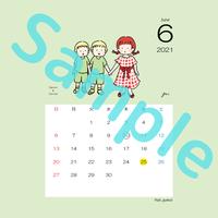 【スクエア】星座カレンダー6月(新月、満月マーク付)