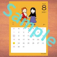 【A4】星座カレンダー6月(新月、満月マーク付)