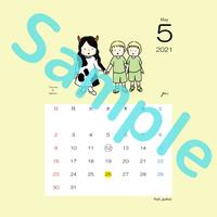 【スクエア】星座カレンダー5月(新月、満月マーク付)
