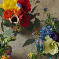 seasonal flower bouquet h30 w30