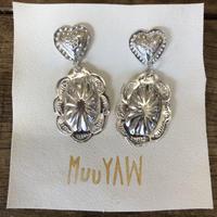 muuyaw  heart concho silver pierce