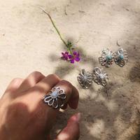 muuyaw ハウライトflower ring