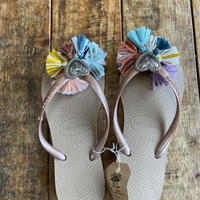 Jelly retro rainbow sandal 20