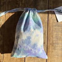 ecoRAL tie-dye mini 巾着 ①