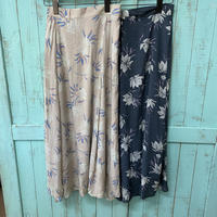 Leona big flower long skirt