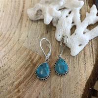Turquoise Drop  pierce 9