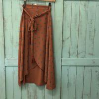 Leona coralラップスカート