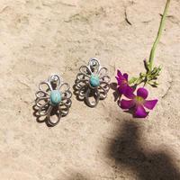 muuyaw turquoise flower pierce
