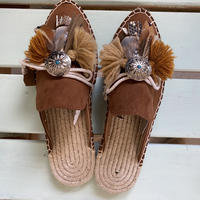 Jelly Espadrilles Brown Lサイズ