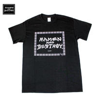 RAMEN&DESTROY Tシャツ ブラック