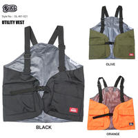 BLUCO(ブルコ) OL-401-021 UTILITY VEST 全3色(ブラック・オリーブ・オレンジ)
