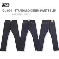 BLUCO(ブルコ)OL-029 STANDARD DENIM PANTS SLIM インディゴ/ブラック