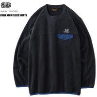 BLUCO(ブルコ)OL-073-021 CREW NECK FLEECE SHIRTS 2色(BLACK・GRAY)