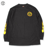 Cycle Zombies(サイクルゾンビーズ) FLAME BOY Standard Fit Long Sleeve T-Shirt Black