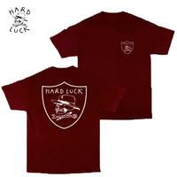 HARD LUCK(ハードラック) HARD SIX S/S TEE バーガンディ