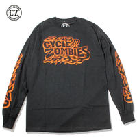 Cycle Zombies(サイクルゾンビーズ) BACKFIRE Standard Fit Long Sleeve T-Shirt Black