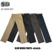 BLUCO(ブルコ) OL-063E-021 SLIM WORK PANTS -strech- 全4色(ブラック・グレー・カーキ・ネイビー)