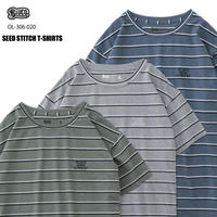BLUCO(ブルコ)OL-306-020 -SEED STICH Tシャツ- 全3色(グレー・オリーブ・ネイビー)
