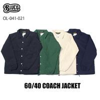 BLUCO(ブルコ) 041-021 60/40 COACH JACKET 全4色(ブラック・グリーン・アイボリー・ネイビー)
