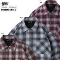BLUCO(ブルコ)OL-046-021 QUILTING SHIRTS 3色(BLU・RED・WINE)